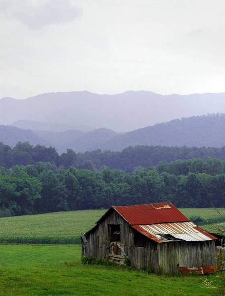 Photograph - Smoky Mountain Barn by Sam Davis Johnson