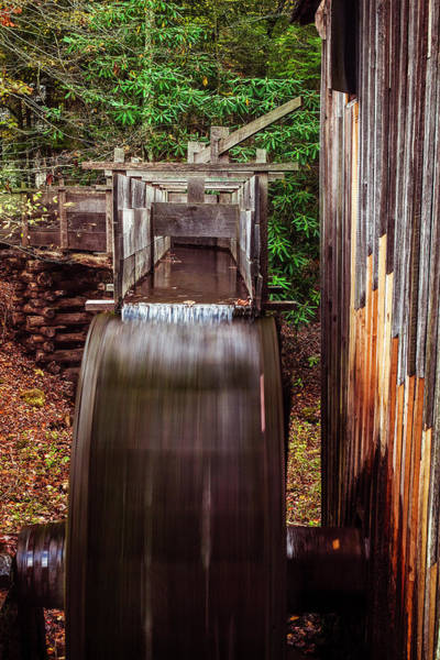 Grist Mill Photograph - Smoky Mountain Mill by Andrew Soundarajan