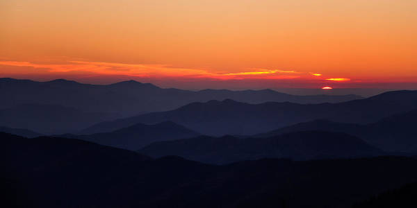 Wall Art - Photograph - Smoky Mountain Sunset by Lana Trussell
