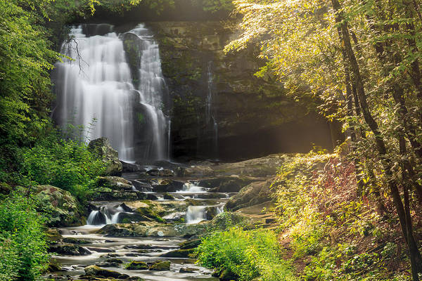 Photograph - Smoky Mountain Waterfall by Keith Allen