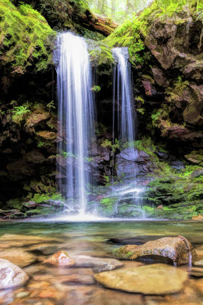Painting - Smoky Mountains Grotto Falls by Christopher Arndt