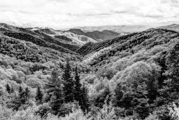 Photograph - Smoky Mountains In Black And White by Kay Brewer