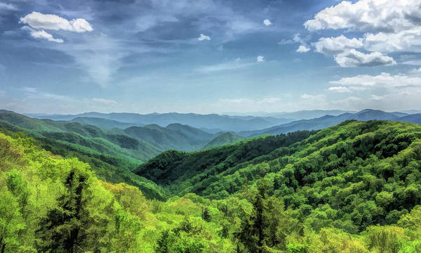 Painting - Smoky Mountains Lush Hills by Christopher Arndt