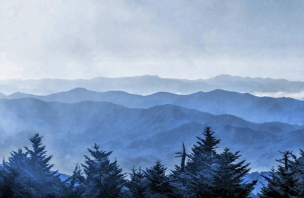 Painting - Smoky Mountains Morning Fog by Christopher Arndt