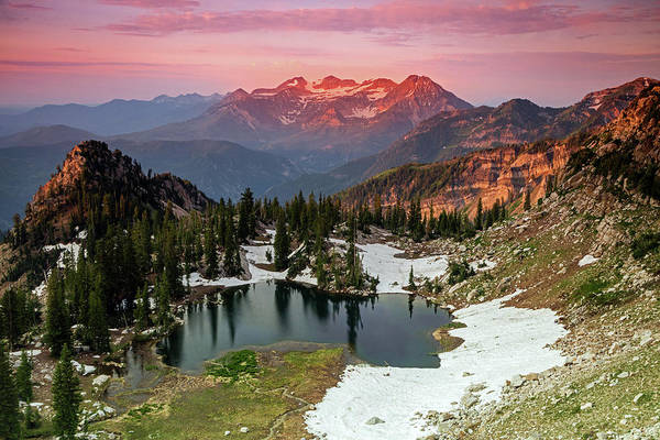 Alpine Lakes Wilderness Photograph - Smoky Sunrise In The Wasatch Back. by Johnny Adolphson