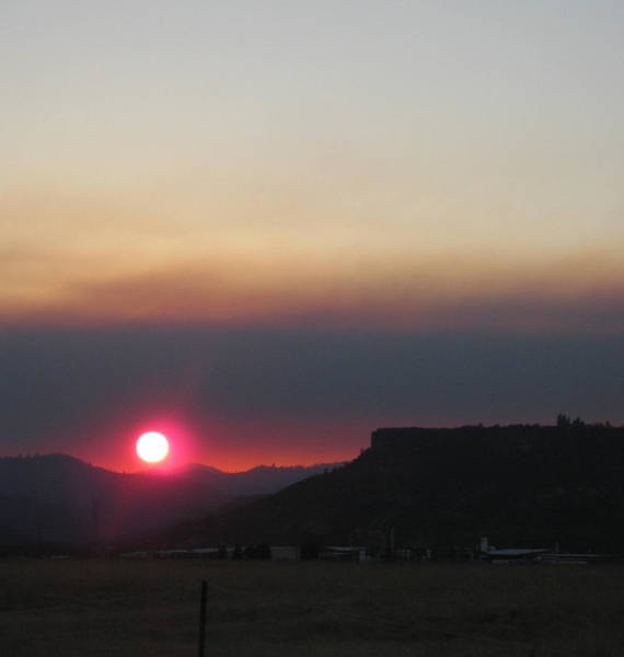Photograph - Smoky Sunset Near Table Rock by Marie Neder
