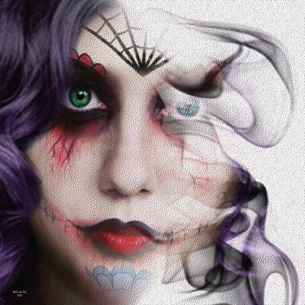 Digital Art - Smoky Zombie Girl by Artful Oasis