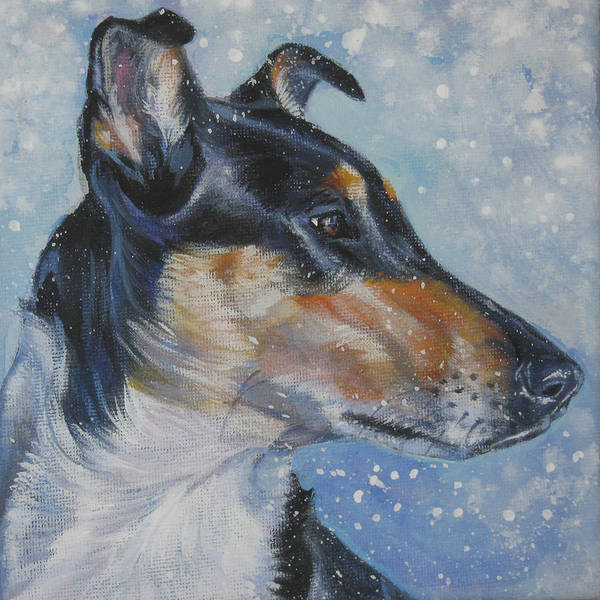 Wall Art - Painting - Smooth Collie by Lee Ann Shepard