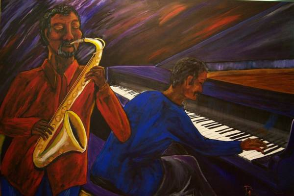 Piano Bar Painting - Smooth Jz by Patricia R Moore