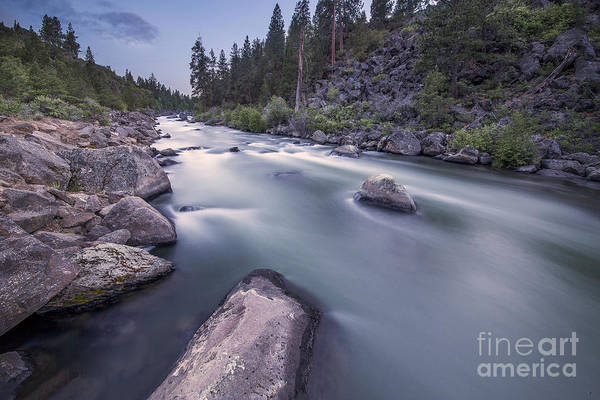 Whitewater Falls Photograph - Smooth Rapids Of Deschutes River by Twenty Two North Photography