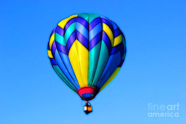 Hot Air Balloon Digital Art - Smooth Sailing by Krissy Katsimbras