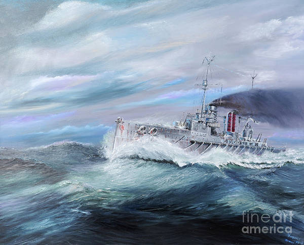 Wall Art - Painting - Sms Seydlitz Enters Jutland 14 15 31st May 1916 by Vincent Alexander Booth