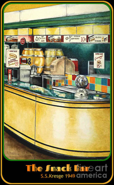 Drawing - Snack Bar by David Neace