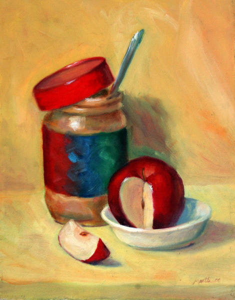 Butter Painting - Snack Time by Athena Mantle