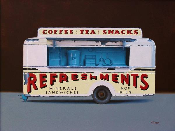 Matchbox Wall Art - Painting - Snack Wagon by Henry Balzer