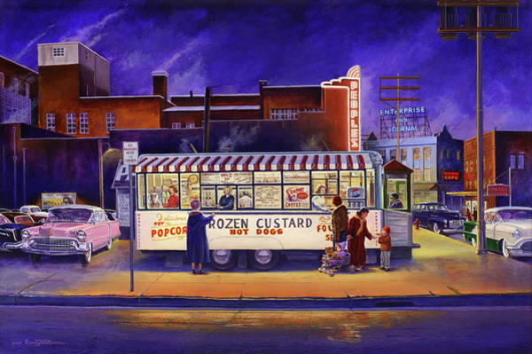 Painting - Snack Wagon by Randy Welborn