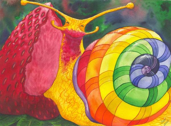 Painting - Snail Nirvana by Catherine G McElroy
