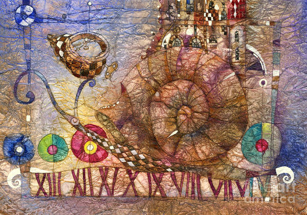 Wall Art - Mixed Media - Snail by Svetlana and Sabir Gadghievs