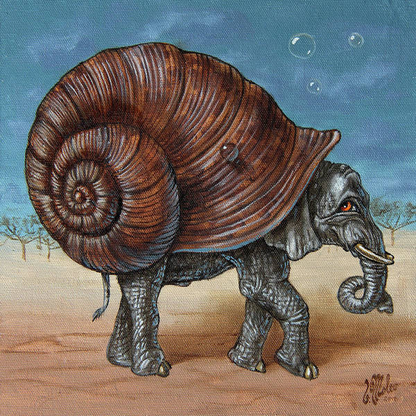 Painting - Snailephant by Victor Molev