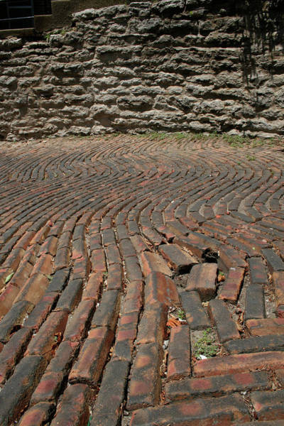 Photograph - Snake Alley Bricks And Stones by Dylan Punke