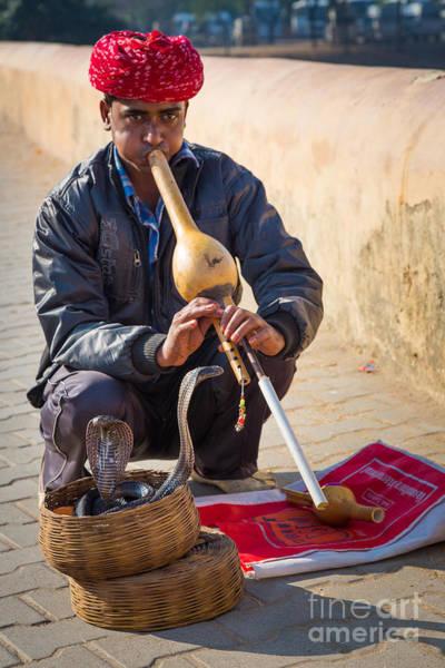 Street Performers Photograph - Snake Charmer by Inge Johnsson