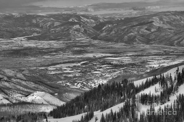 Photograph - Snake Creek Pass Valley Views Black And White by Adam Jewell