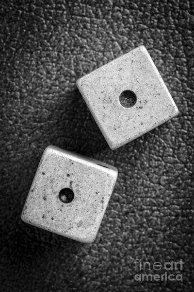 Photograph - Snake Eyes Dice Roll by Edward Fielding
