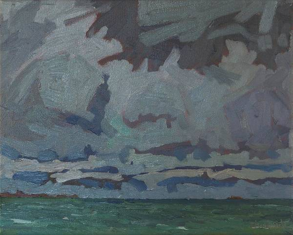 Stratocumulus Painting - Snake Island Showers by Phil Chadwick