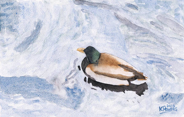 Painting - Snake Lake Duck Sketch by Ken Powers