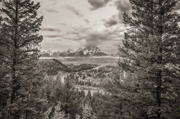 Wall Art - Photograph - Snake River Overlook Grand Teton Monochromatic by Scott McGuire