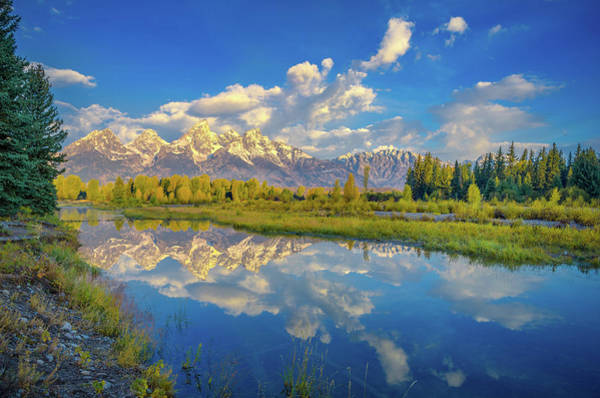 Schwabacher Photograph - Snake River Reflection Grand Teton by Scott McGuire