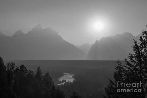 Snake Mountain Wall Art - Photograph - Snake River Sunset Bw by Michael Ver Sprill