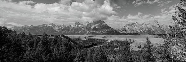 Photograph - Snake River Teton Panorama View Monochrome by James BO Insogna