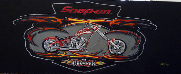 Painting - Snap-on Chopper by Richard Le Page