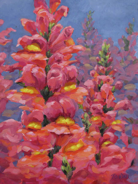 Snapdragons Painting - Snapdragons by Karen Ilari