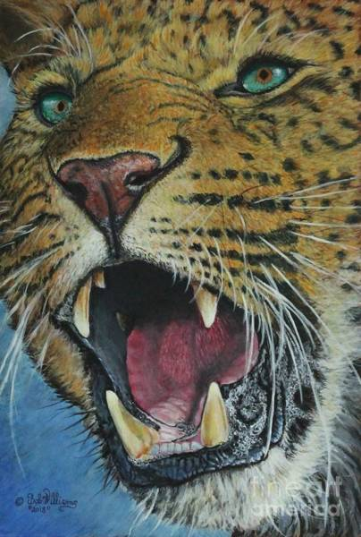 Painting - Snarl...amur Leopard by Bob Williams