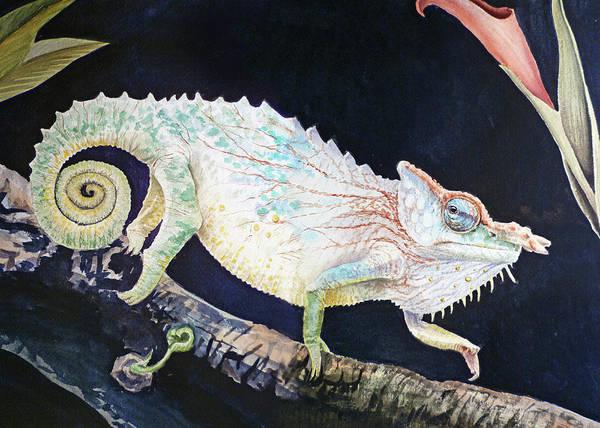 Painting - Sneaky Chameleon  by Irina Sztukowski
