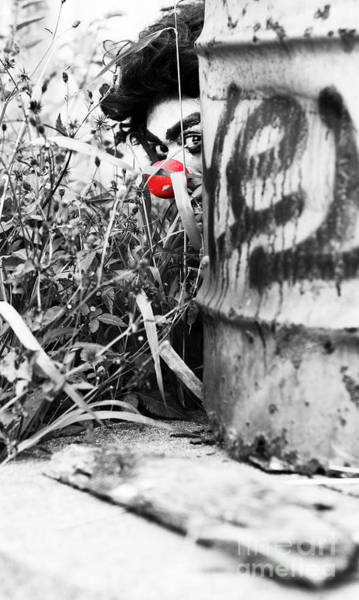 Prowler Photograph - Sneaky The Clown by Jorgo Photography - Wall Art Gallery