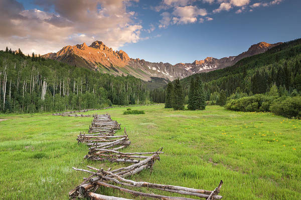 Photograph - Sneffels Fence Horizontal by Whit Richardson