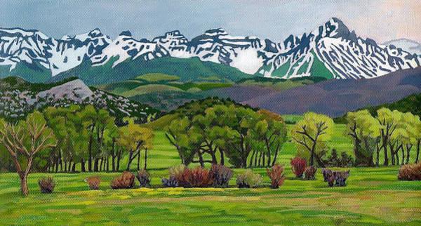 Painting - Sneffels Range Spring Acrylic by Dan Miller