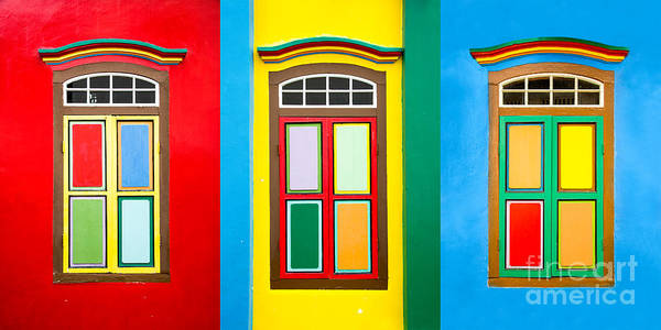 Wall Art - Photograph - Singapore Windows by Delphimages Photo Creations