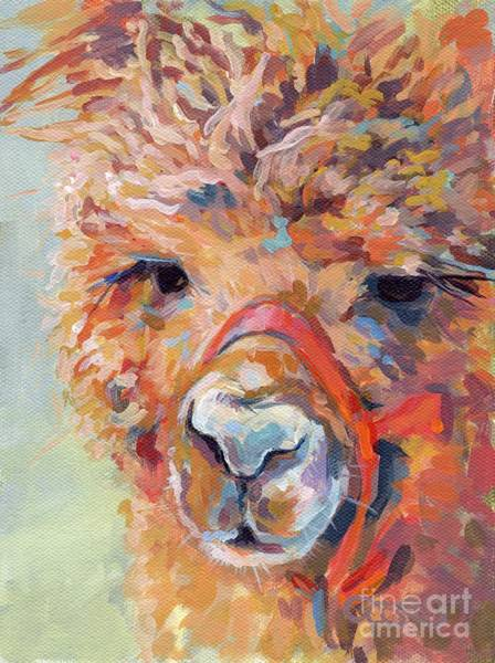 Alpaca Painting - Snickers by Kimberly Santini