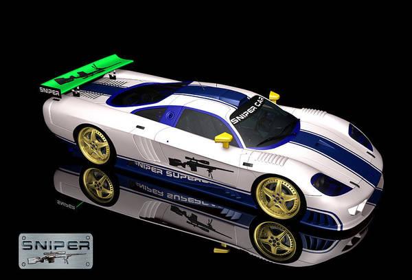 Digital Art - Sniper Car Series 01 by Carlos Diaz