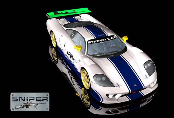 Digital Art - Sniper Car Series 2 by Carlos Diaz
