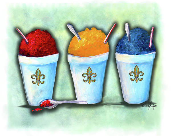 Wall Art - Painting - Snoballs by Elaine Hodges