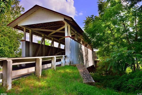 Photograph - Snooks Covered Bridge by Lisa Wooten
