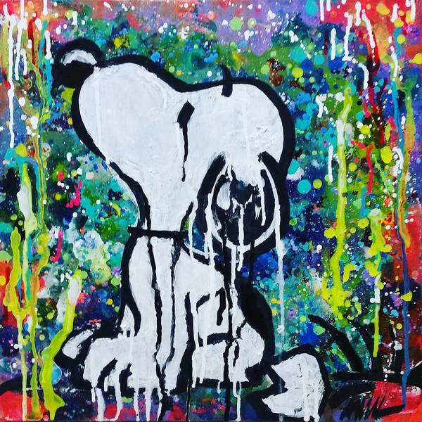 Abstract Painting - Snoopy.cosmos by A MiL