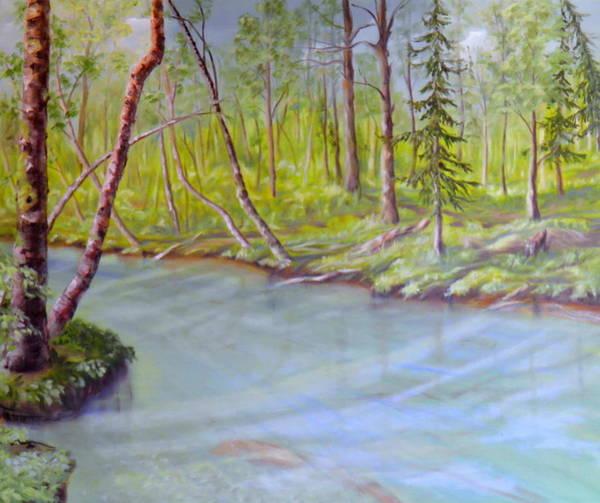 Follow Me Painting - Snootli Creek by Ida Eriksen