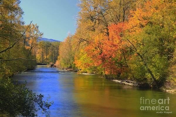 Wall Art - Photograph - Snoqualmie River Autumn by Winston Rockwell