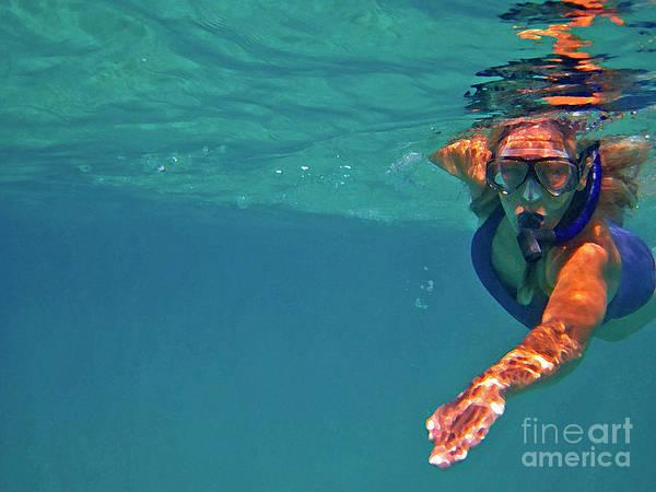 Photograph - Snorkeler 2 by Bette Phelan